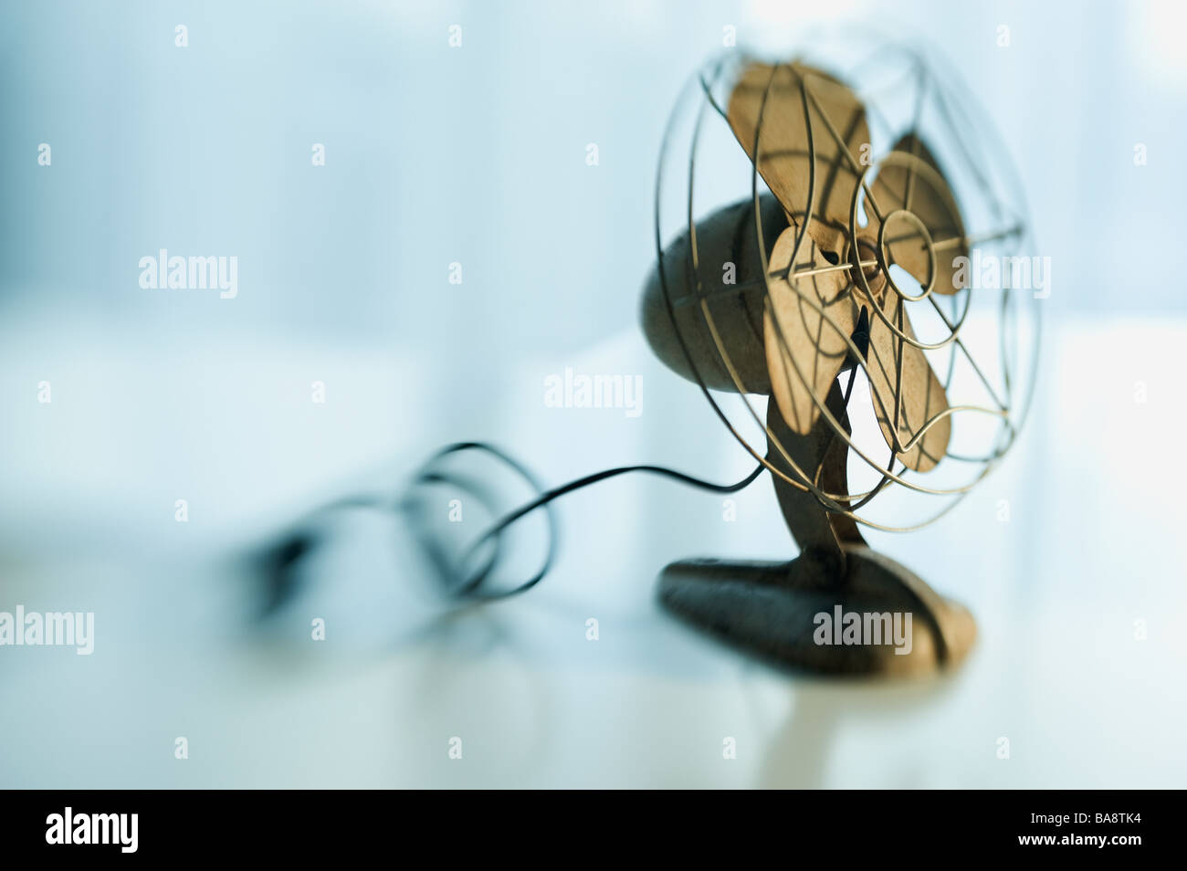 Close up of antique Ventilateur Photo Stock