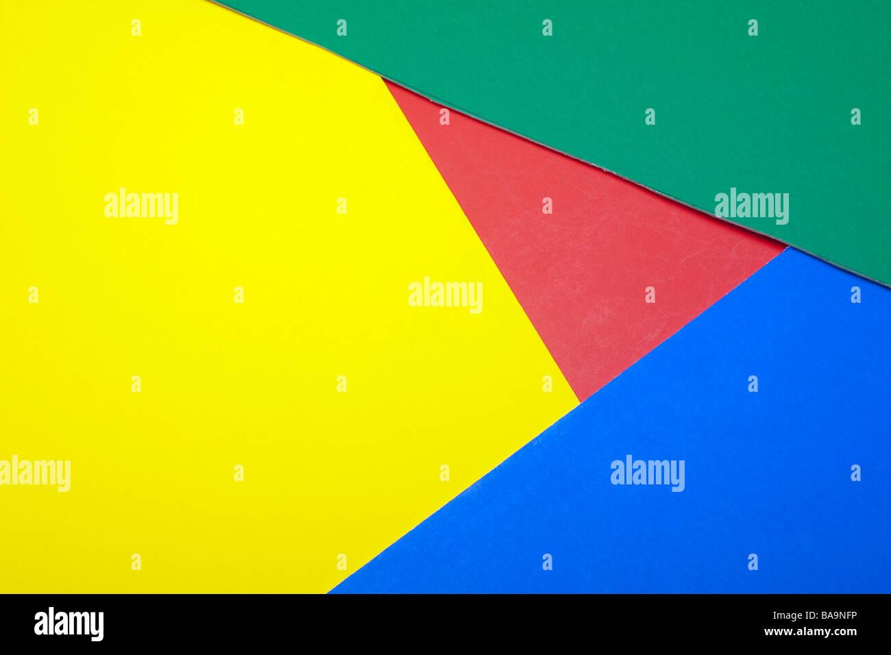 Formes en carton de couleur Banque D'Images