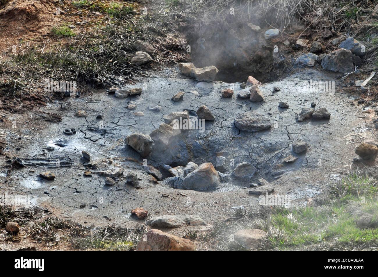 Leucorrhées nauséabondes, riches en soufre (pot de boue bouillante ...