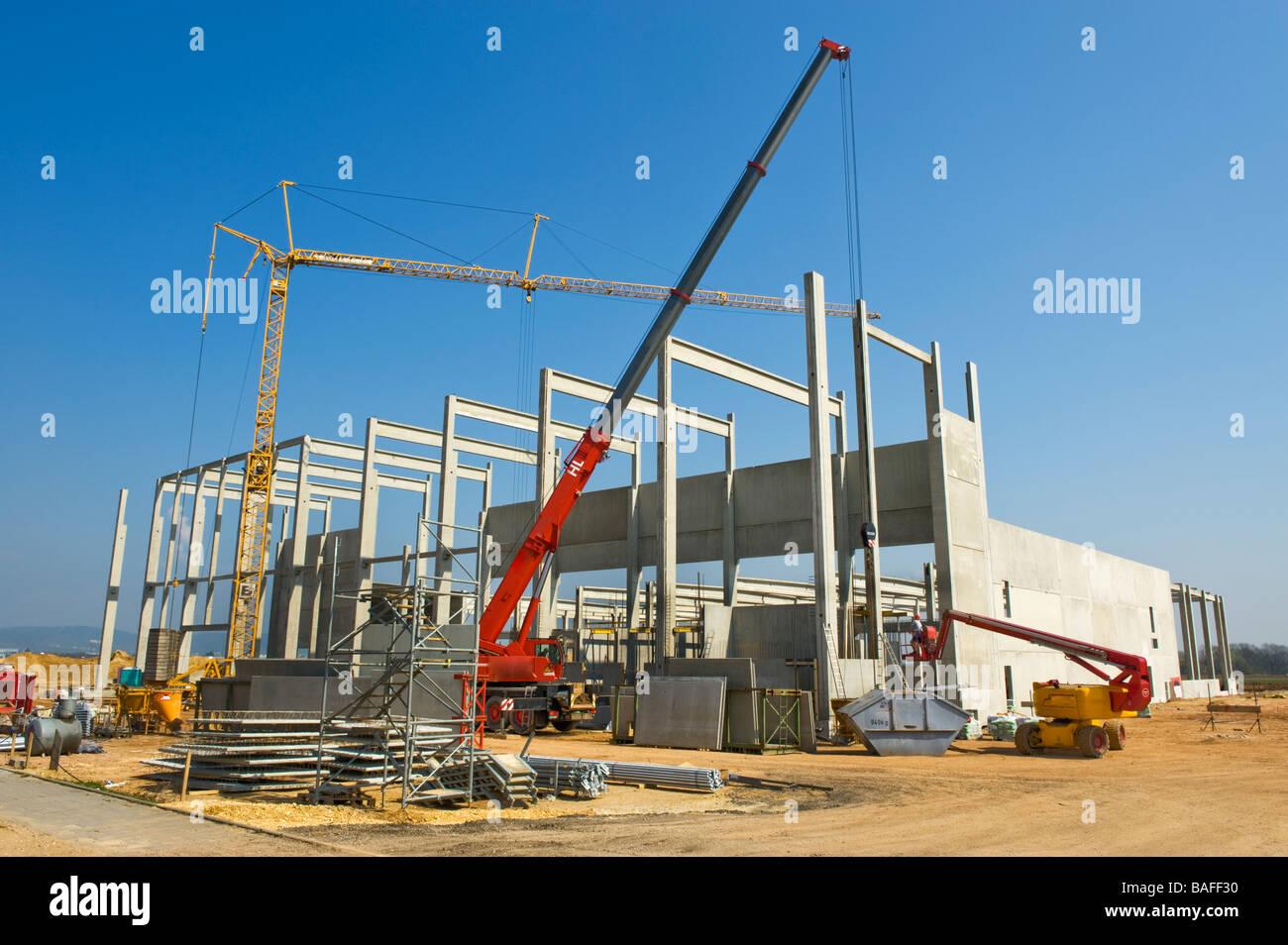Plan du site de construction du bâtiment de l\'usine Usine de poutres ...