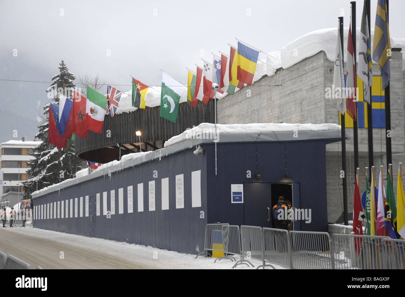 Le Forum économique mondial de Davos Photo Stock
