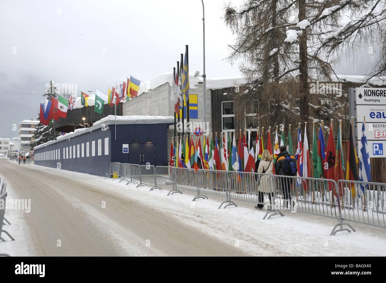 Centre de conférence Forum économique mondial, Davos, Suisse Photo Stock