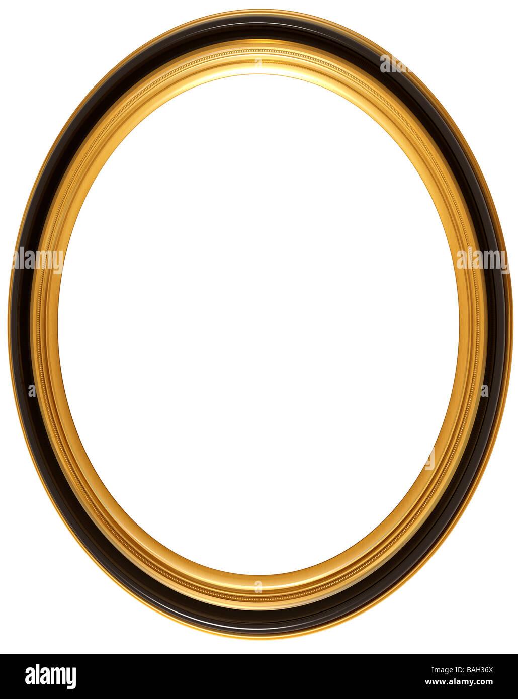 Illustration de l'isolé un ovale cadre photo géorgienne Photo Stock