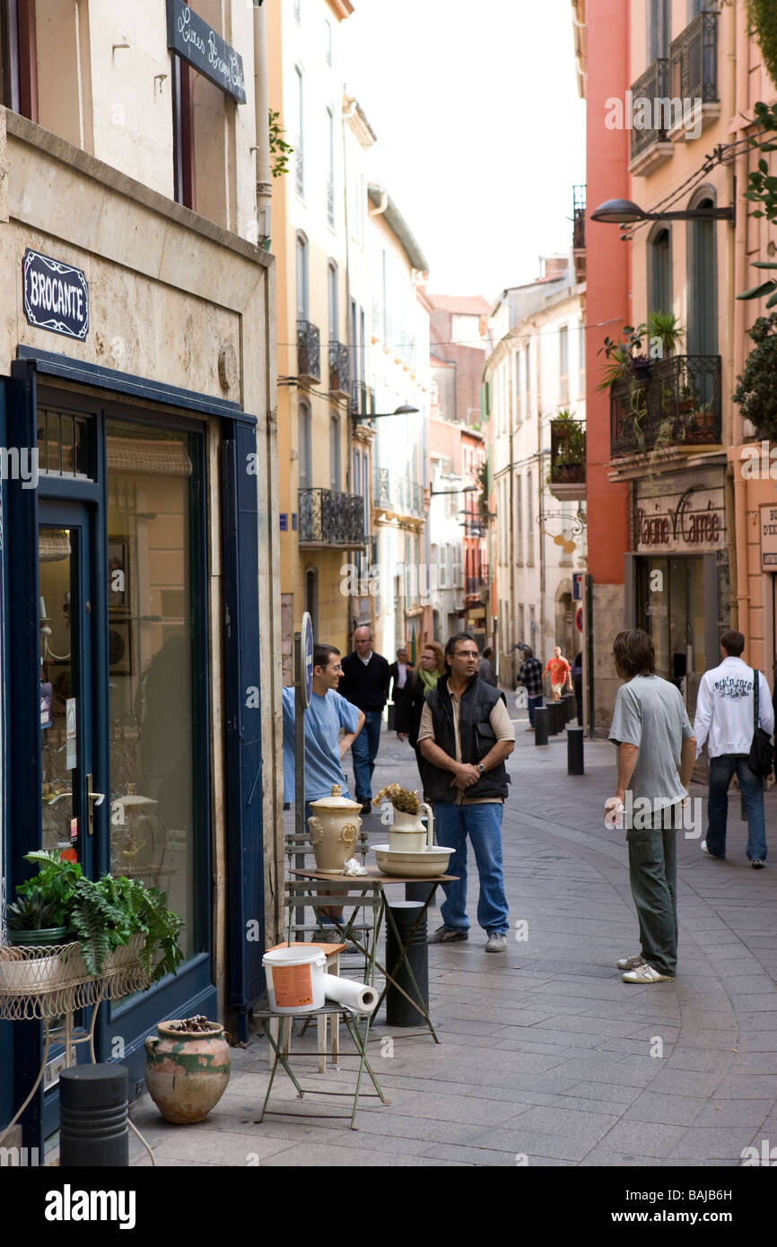 Street à Perpignan France Photo Stock
