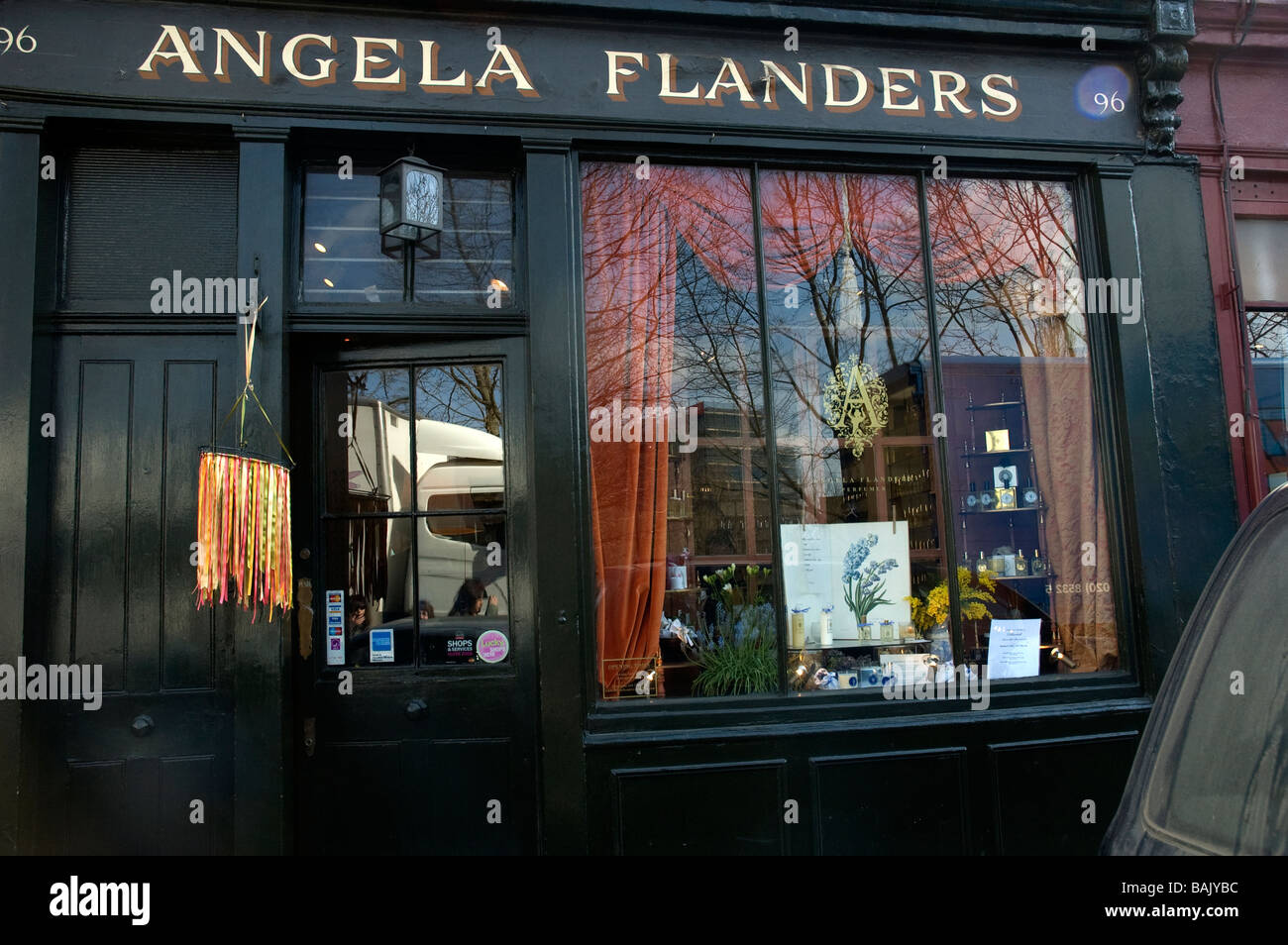 Angela Flander's charmant Cadeaux à Columbia Road London England Photo Stock