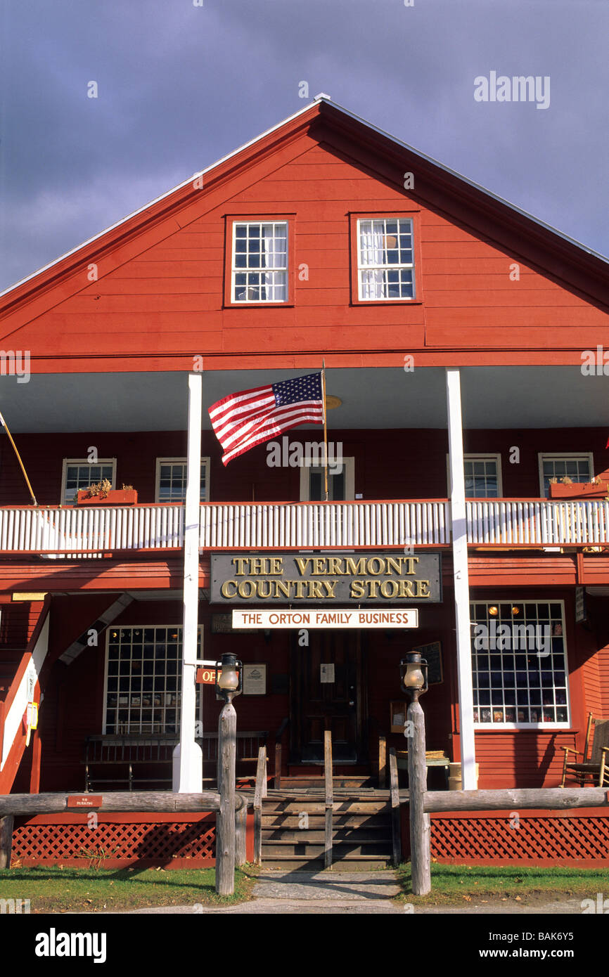 United States, New York, Weston, Vermont Country store Banque D'Images