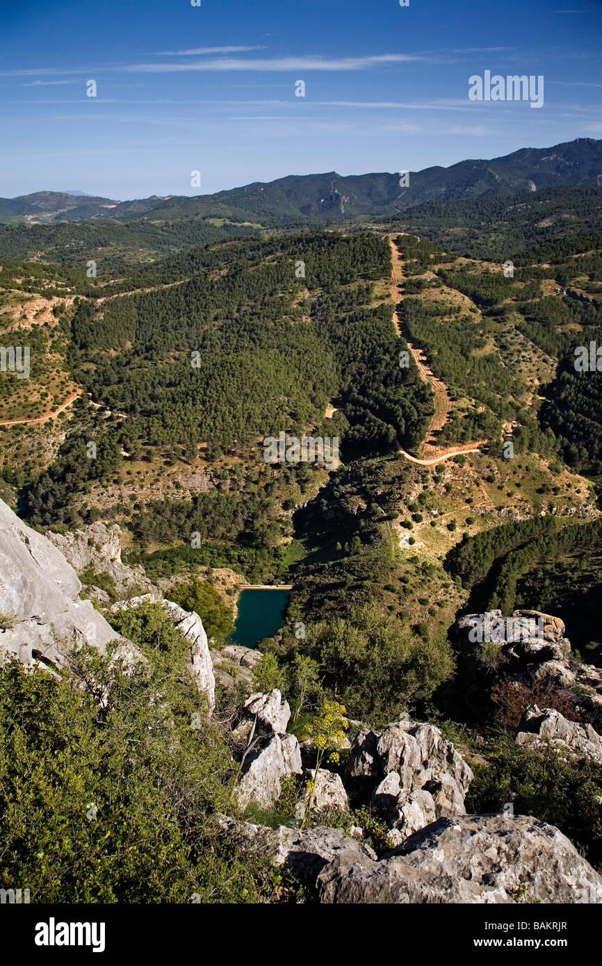 Parc Naturel de la Sierra de las Nieves et réserve de biosphère de Serrania de Ronda malaga andalousie Photo Stock