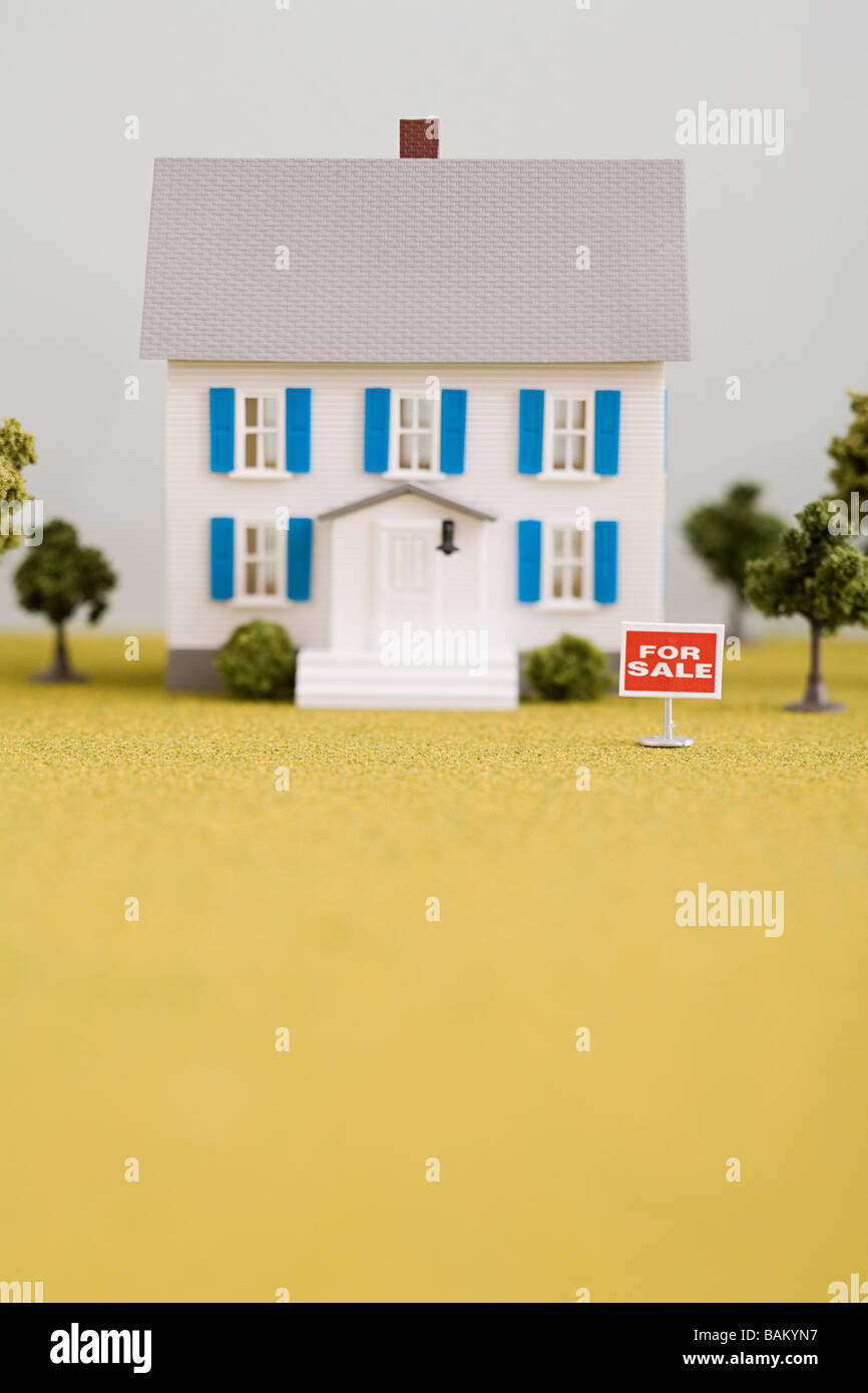 Modèle de maison à vendre Photo Stock