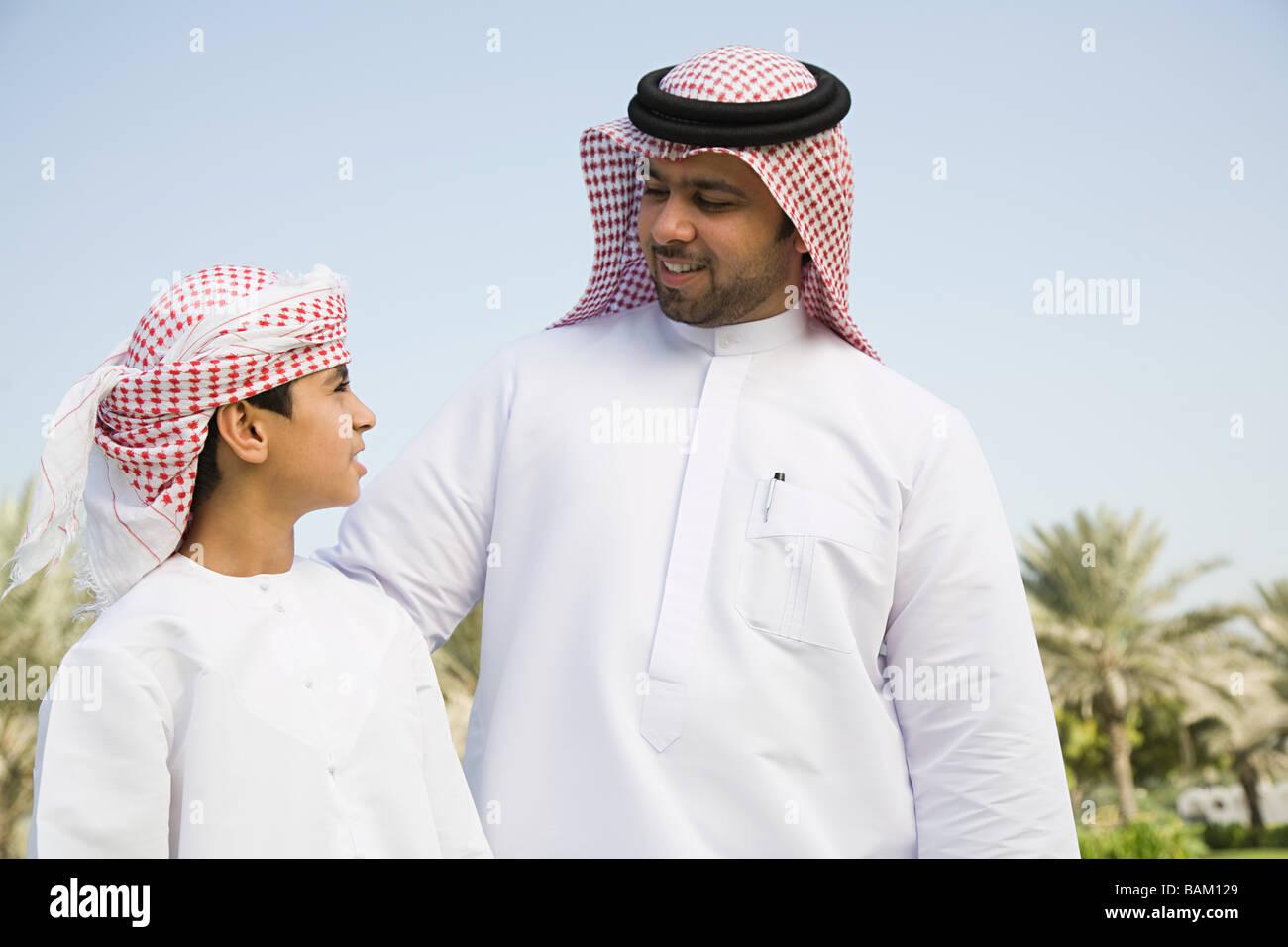 Un portrait d'un père et fils Photo Stock