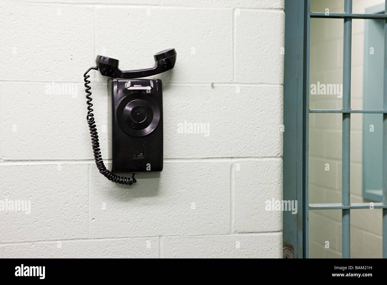 Téléphone en prison Photo Stock