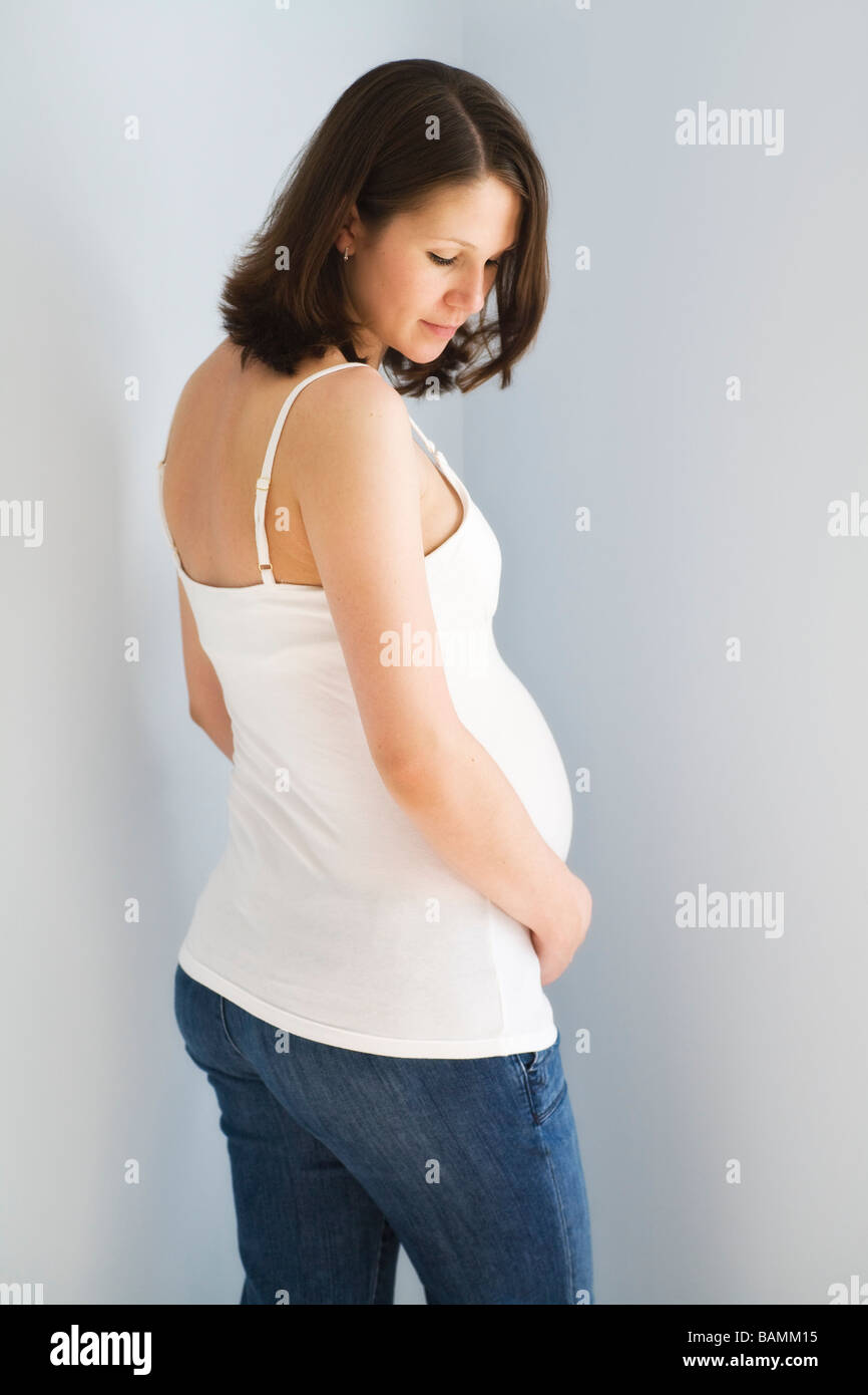 Portrait d'une femme enceinte Photo Stock