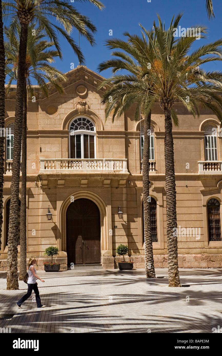 Palais épiscopal sur la Plaza de la Catedral Almeria Andalousie Espagne Photo Stock
