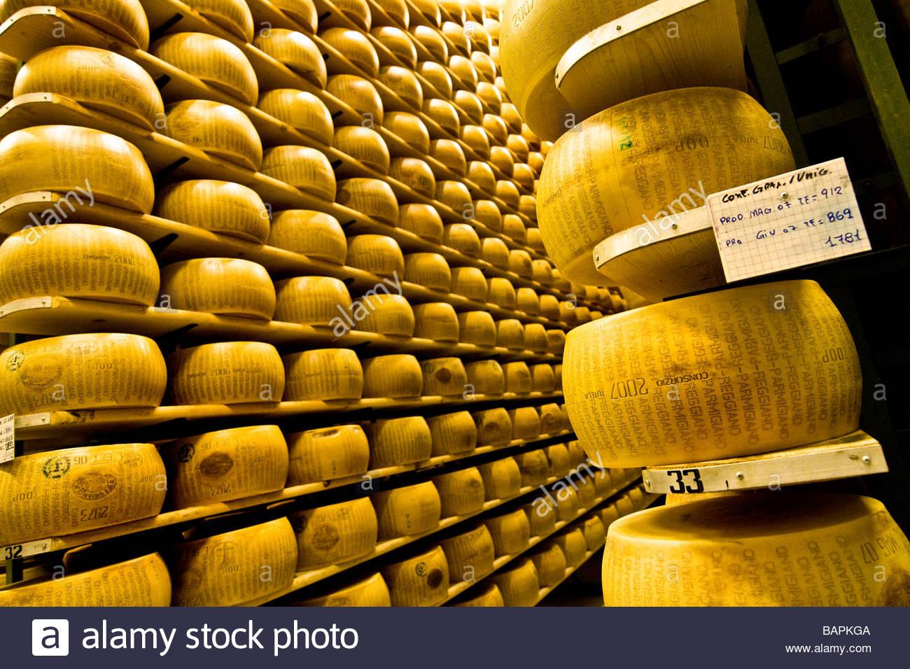 Le parmigiano reggiano cooperativa casearia castelnovese Castelnuovo Rangone émilie-romagne en italie Banque D'Images