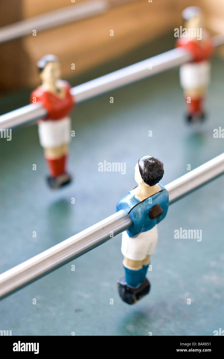 Les joueurs de l'opposition Photo Stock