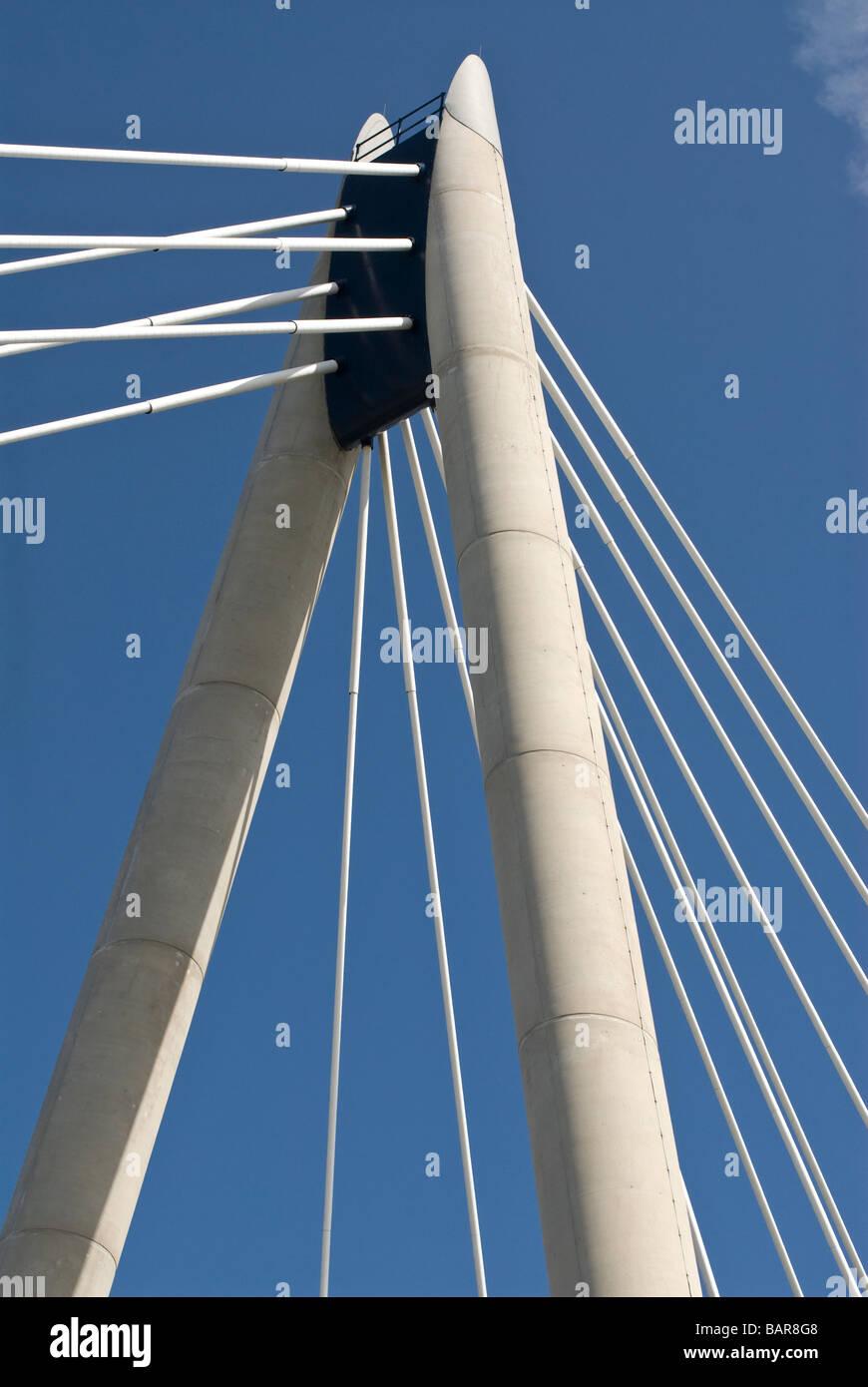 Structure du pont de Southport Photo Stock