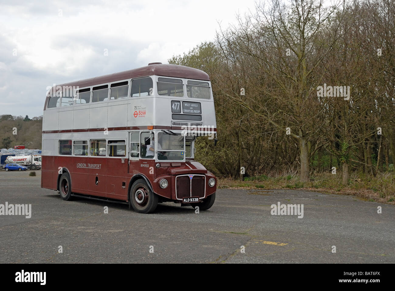 Trois quarts vue avant d'ALD 933B a 1964 AEC Routemaster RM 1933 partie de l'East London Heritage Route Photo Stock