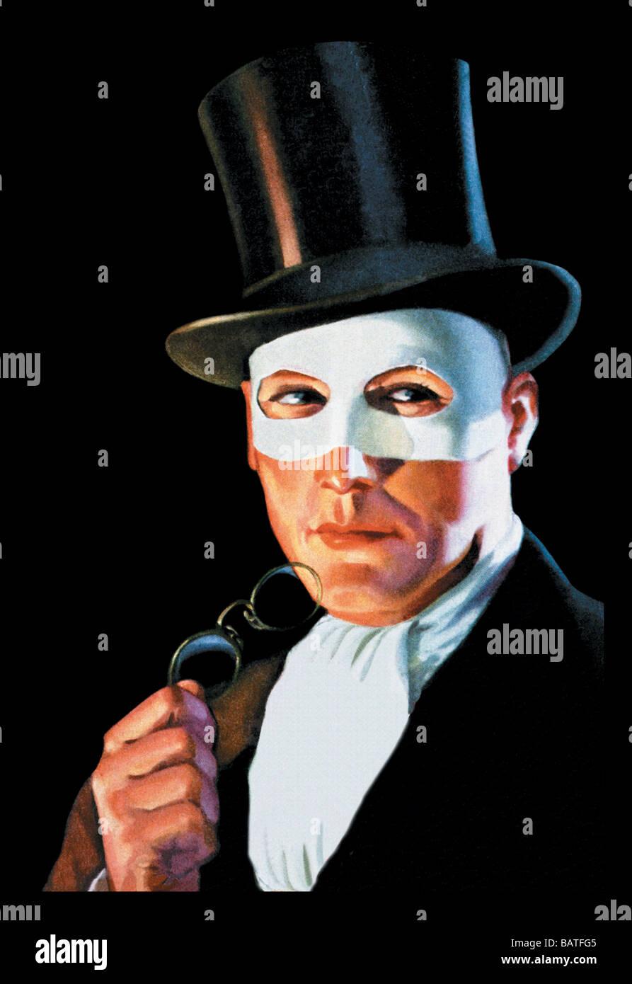 L'homme dans le masque Banque D'Images