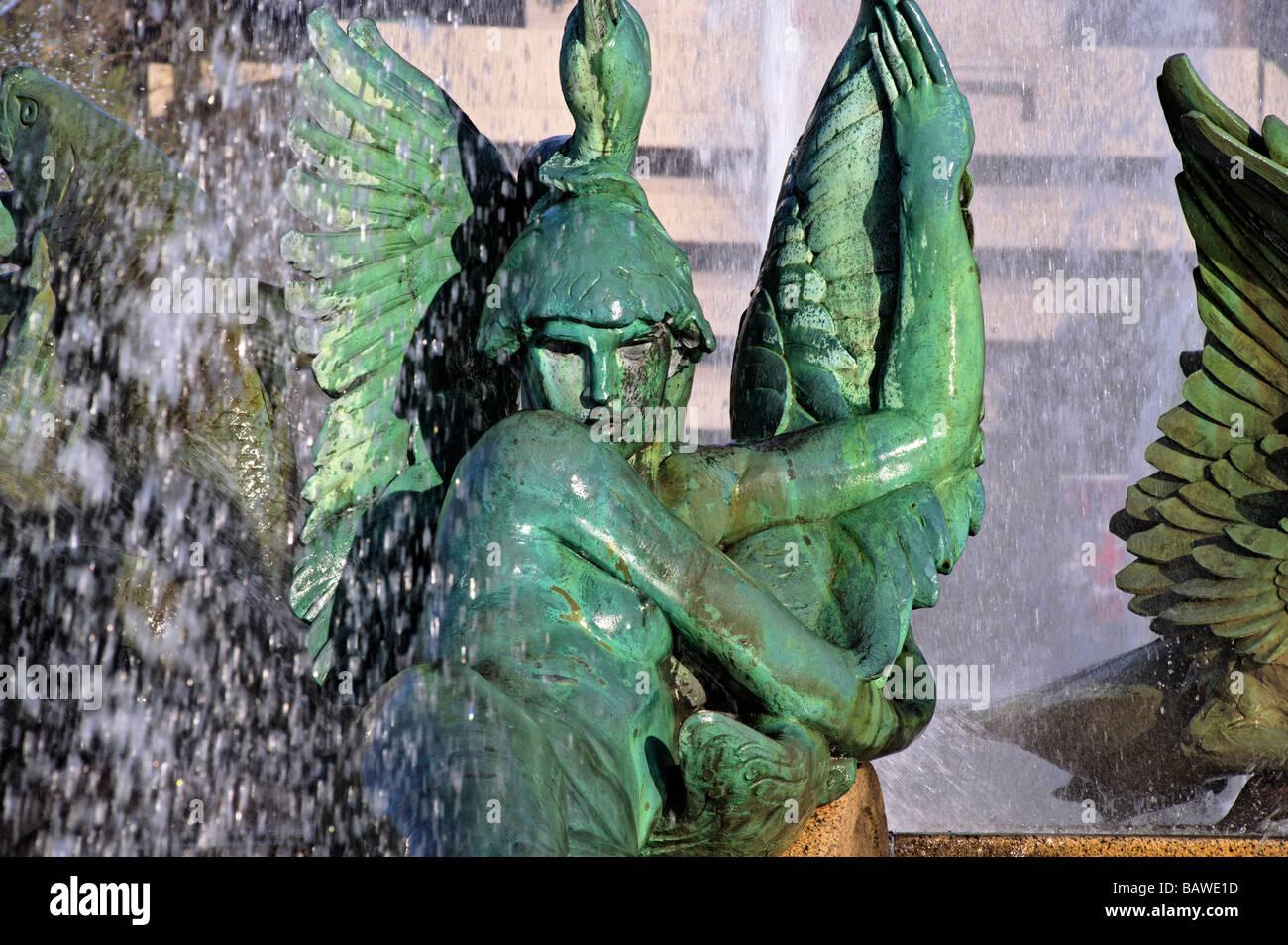 Swann fountain dans Logan's Circle de Philadelphie, en Pennsylvanie Photo Stock