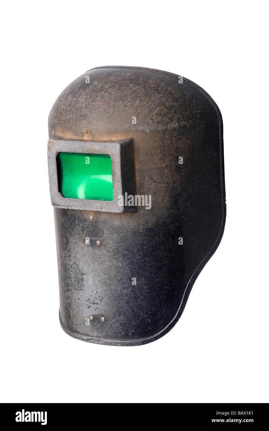 Ancien masque casque de soudage utilisé Photo Stock 51aee25e52b6