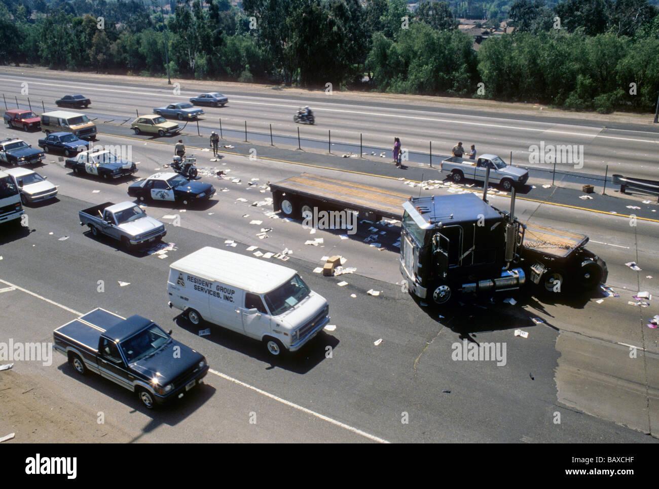 Accident de la route autoroute accident de la circulation de