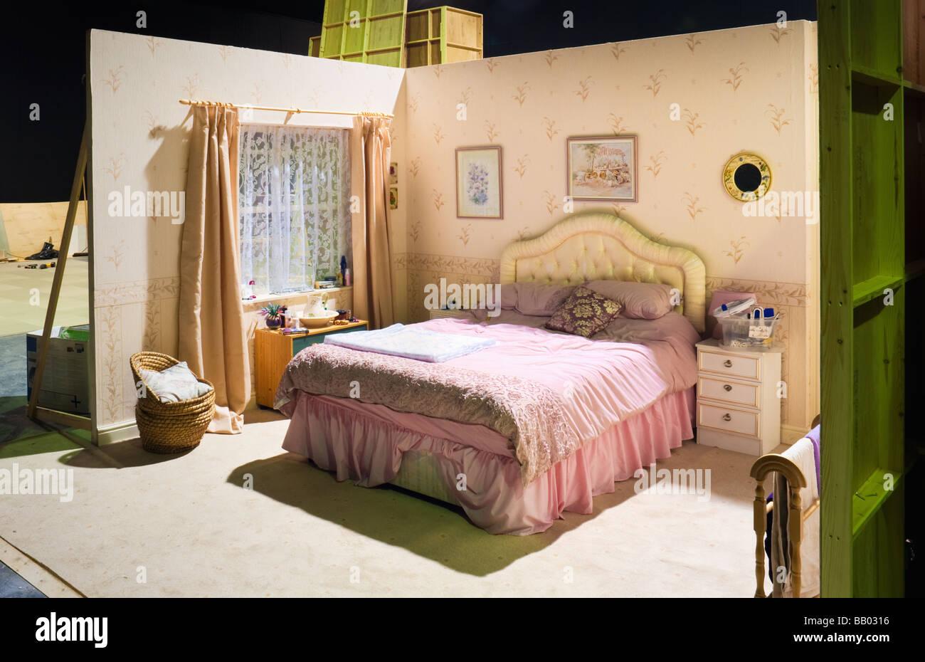 Studio de télévision - mise en scène - ensemble de paysages ressemblant à une chambre à Photo Stock
