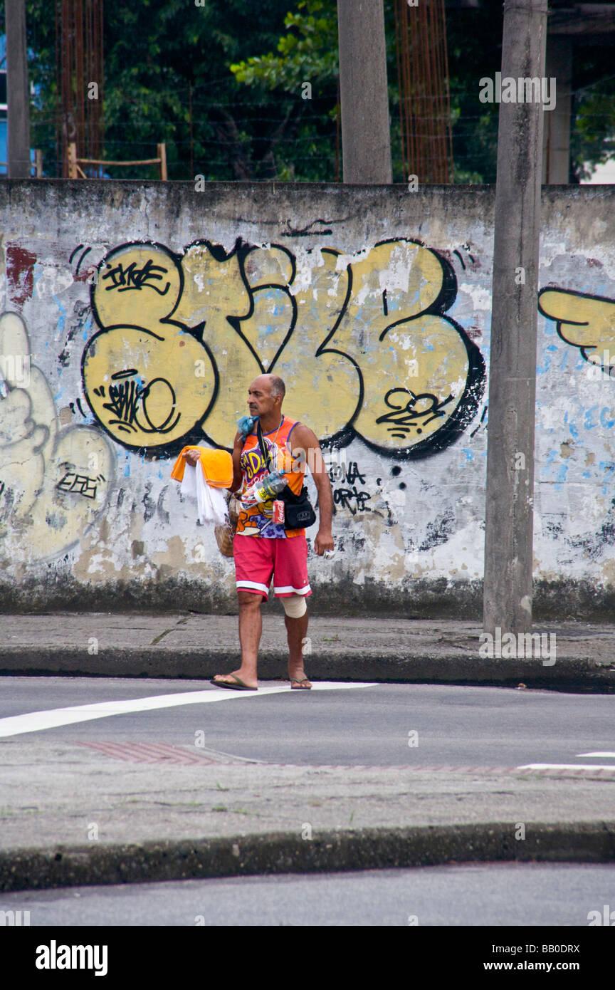 Dans la zone nord de Rio de Janeiro Photo Stock