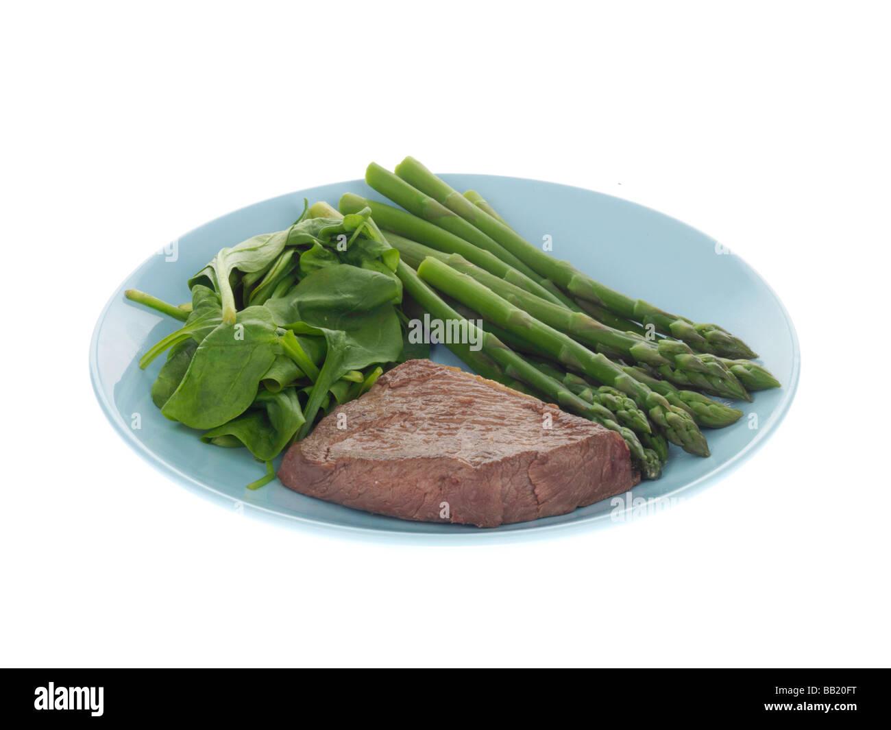 Pavé de boeuf maigre avec des légumes Photo Stock