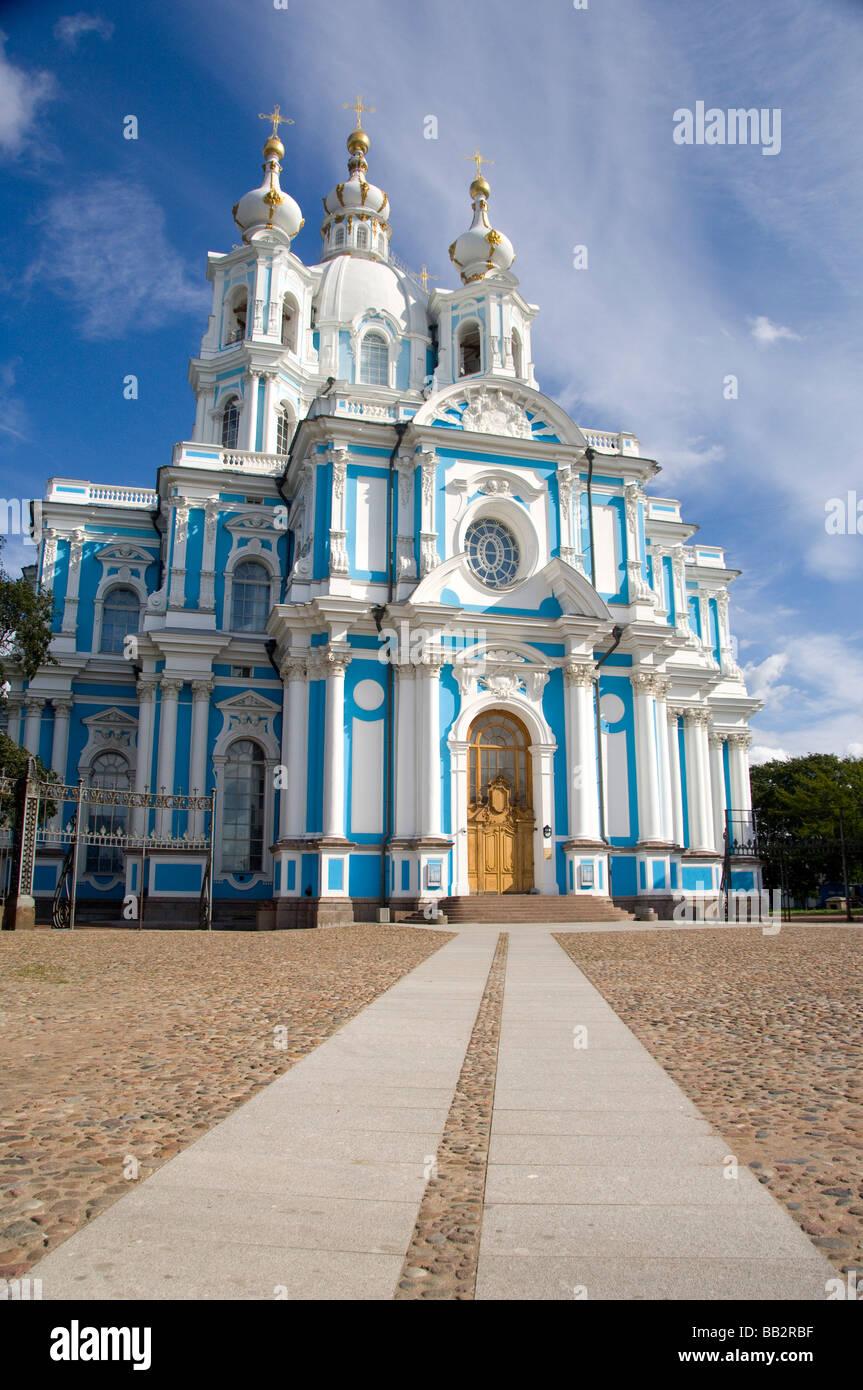 La Russie, Saint-Pétersbourg, la Perspective Nevski, couvent Smolny. (RF) Banque D'Images