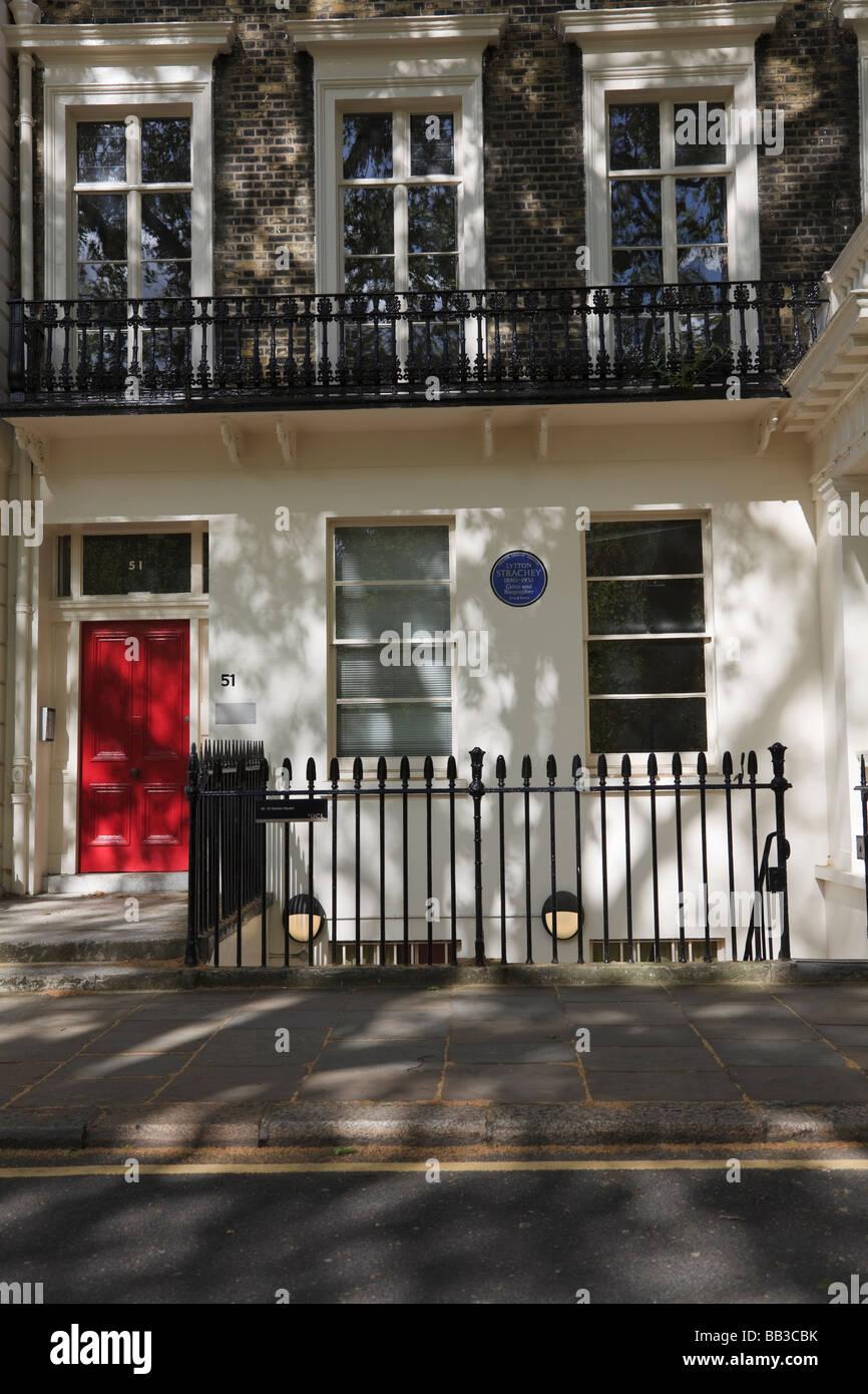51 Gordon Square 51 était la maison de Lytton Strachey Bloomsbury Londres UK Banque D'Images