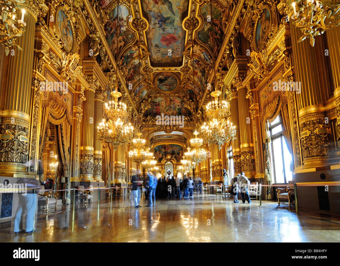 L Opéra Garnier Grand Foyer De L Opera : L intérieur du grand foyer palais garnier la plus