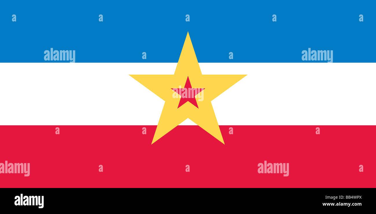 Drapeau historique de la Yougoslavie Photo Stock