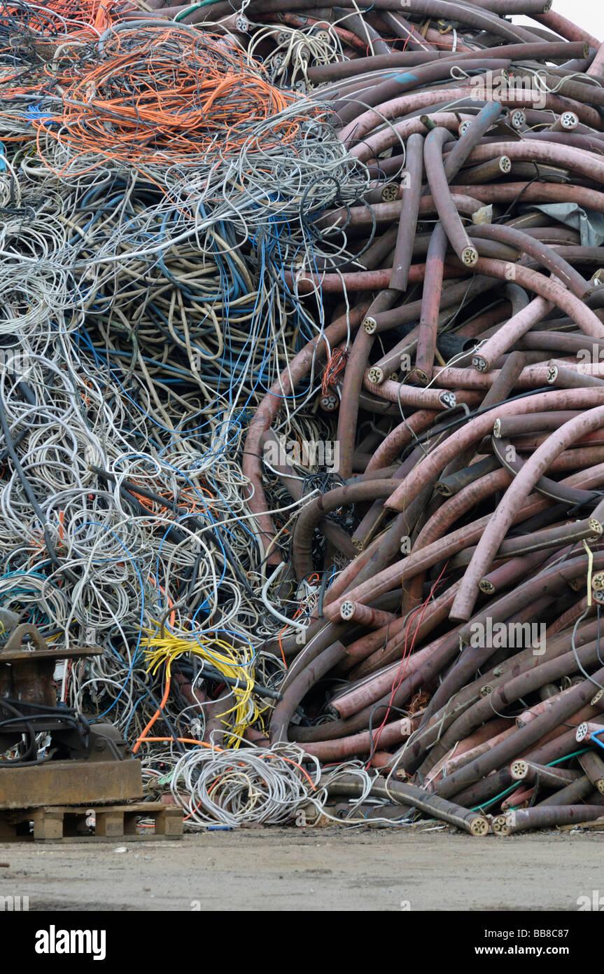 Point de collecte du recyclage des matières premières, Photo Stock