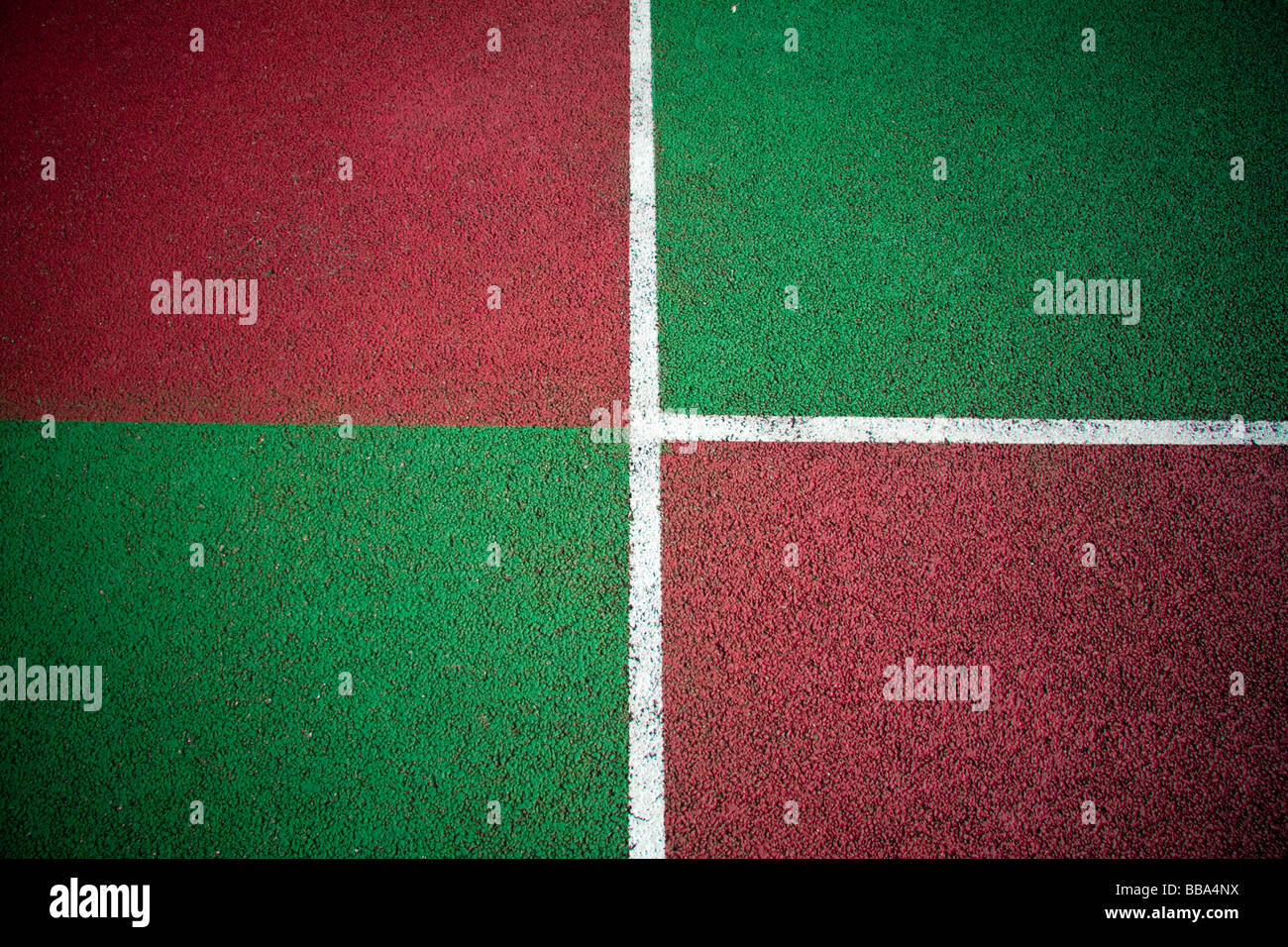 Couleurs abstraites d'une cour de tennis tous temps tarmac Photo Stock