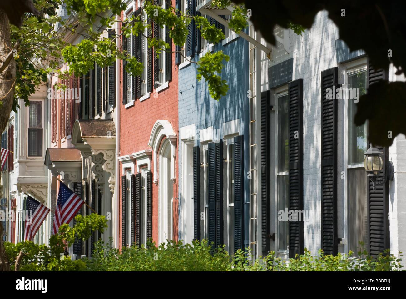 L'architecture de style fédéral à Genève New York Comté de l'Ontario Région Photo Stock