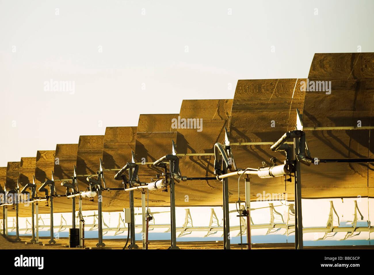 L'usine de production d'électricité solaire Photo Stock
