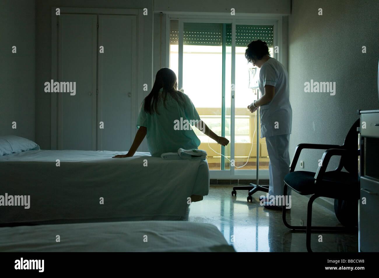 Chambre d'hôpital de l'hôpital de habitación Photo Stock
