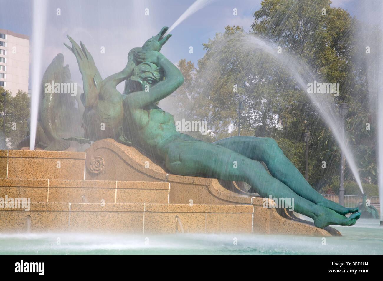 Logan Square Fountain Parkway Museum District Philadelphia Pennsylvania USA Photo Stock