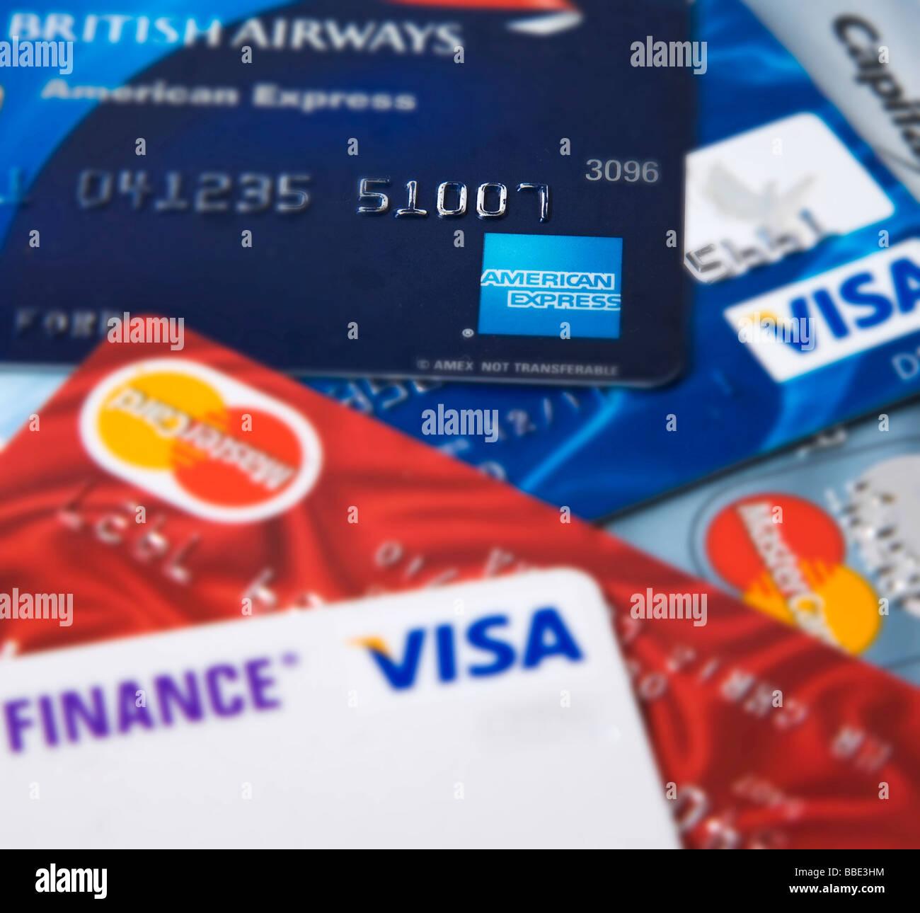 'Carte de crédit' Visa Mastercard Photo Stock