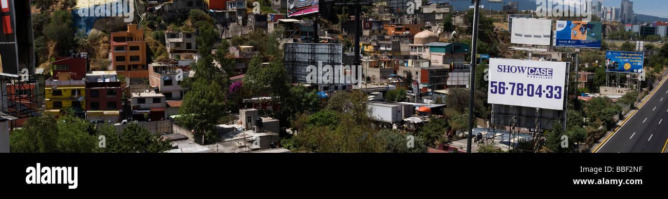 La ville de Mexico, vue de dessus, la pauvreté Photo Stock