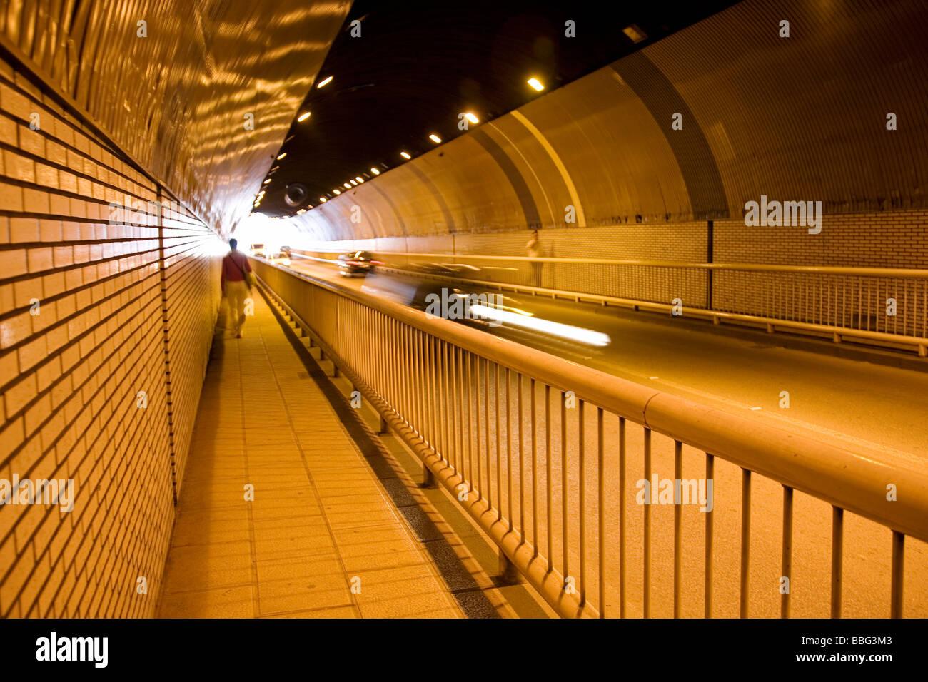 En Santander Cantabrie España Tunel Tunnel dans de ville de Santander Cantabrie Espagne Photo Stock