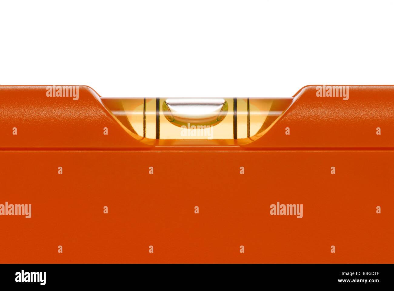 Le niveau de l'eau, Orange image symbolique pour l'équilibre ou d'équilibre Photo Stock