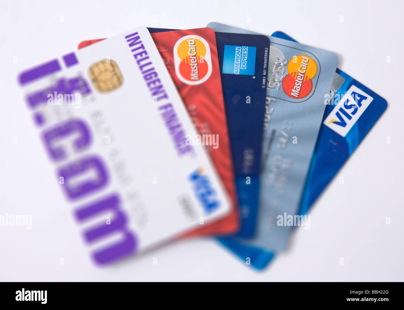 Cartes de crédit visa' Photo Stock