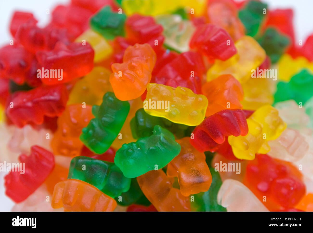 Bonbons Ours gommeux les ventes aux États-Unis sont restés élevés malgré une augmentation générale du prix des bonbons et le curren Banque D'Images
