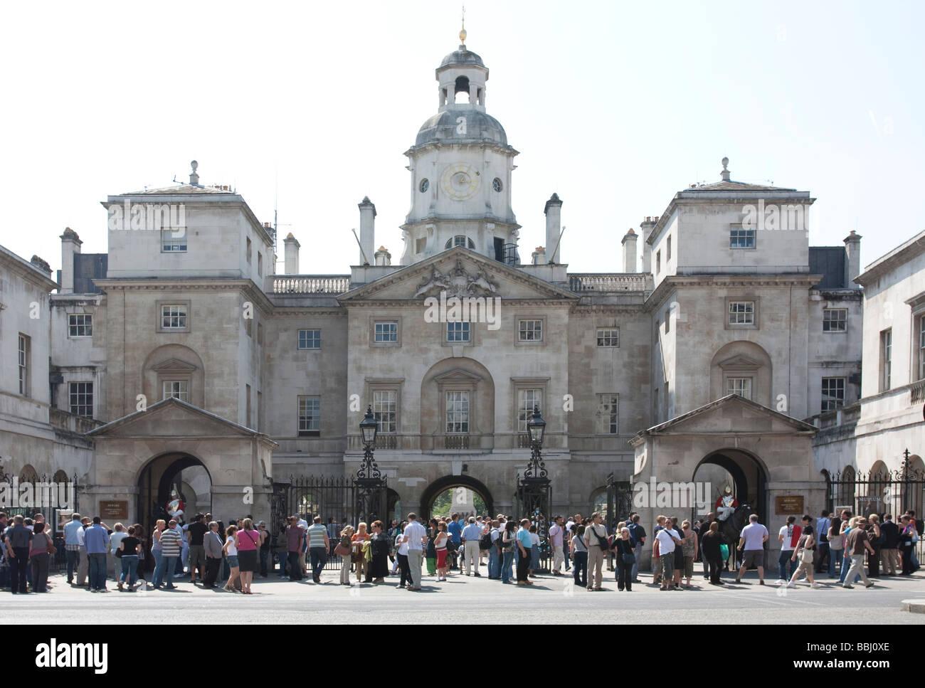 Les touristes - Horse Guards Parade - Vernon - Londres Photo Stock