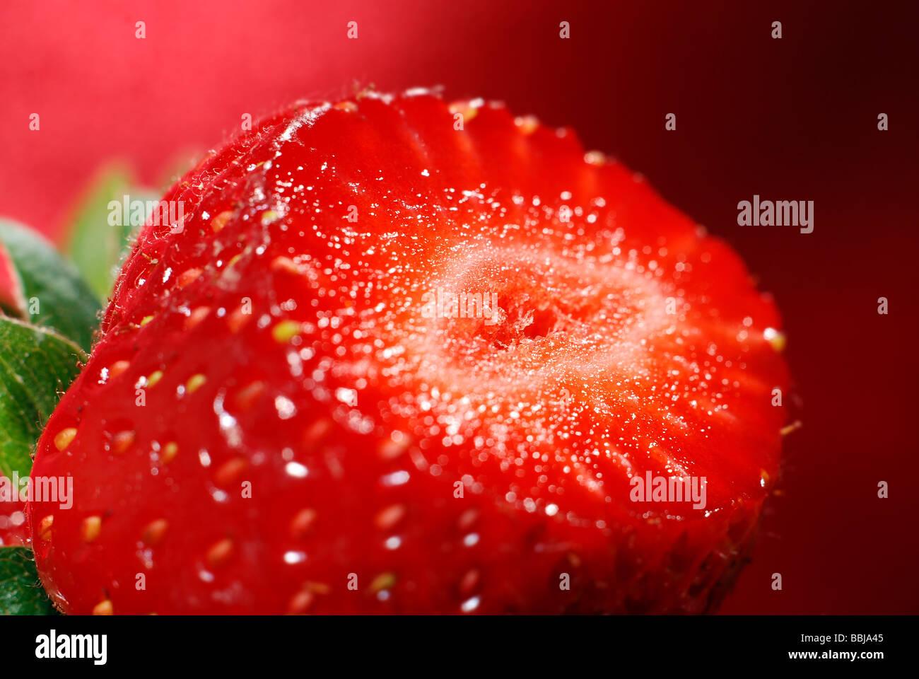 Fraise frais et savoureux Photo Stock