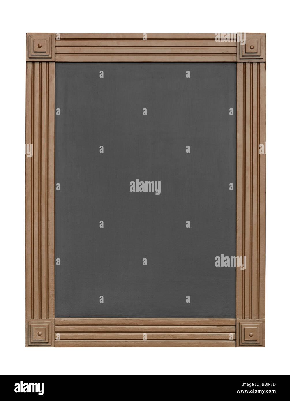 Tableau d'affichage vide isolé sur fond blanc avec clipping path Photo Stock