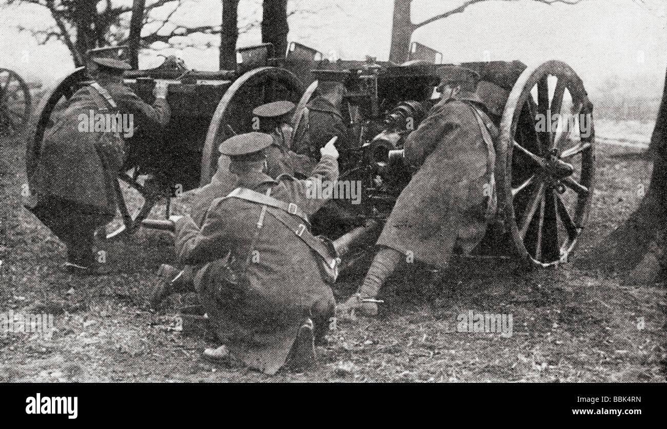 L'Honorable Artillery Company H A C au cours de la pratique des armes à feu dans la région de Richmond Photo Stock