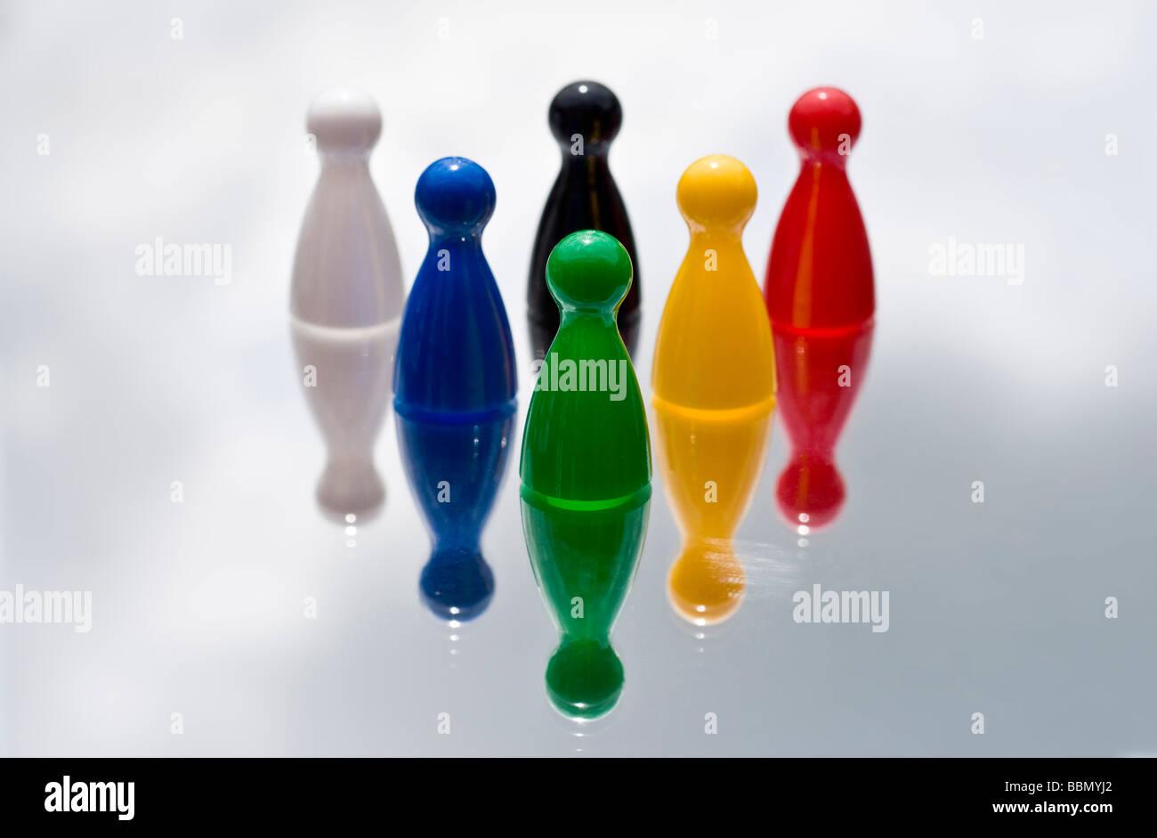 Pièces de jeu de jeu Photo Stock