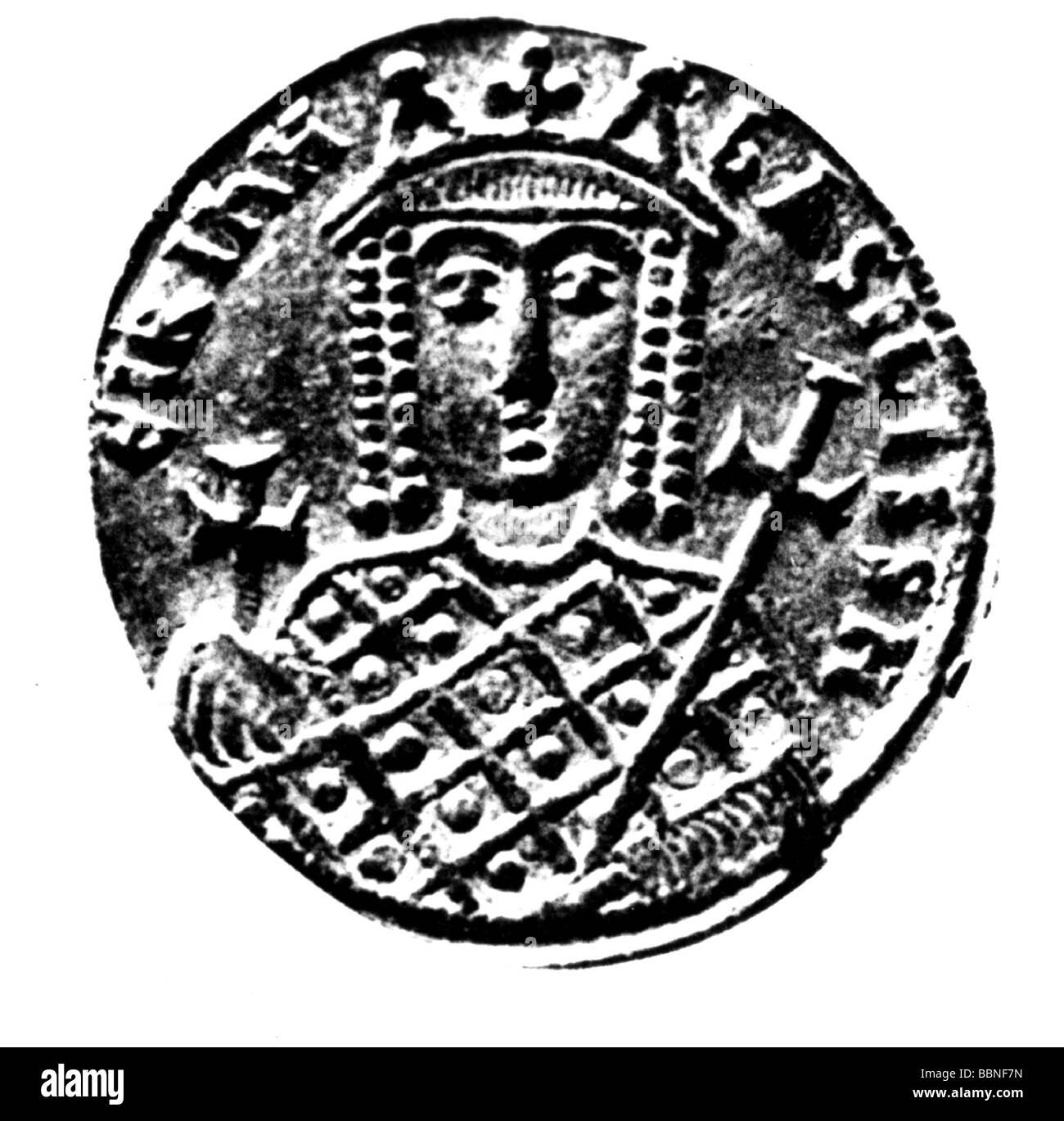 Irene d'Athènes, 752 - 9.8.803, l'Impératrice de l'Empire romain, l'épouse de Léon Photo Stock