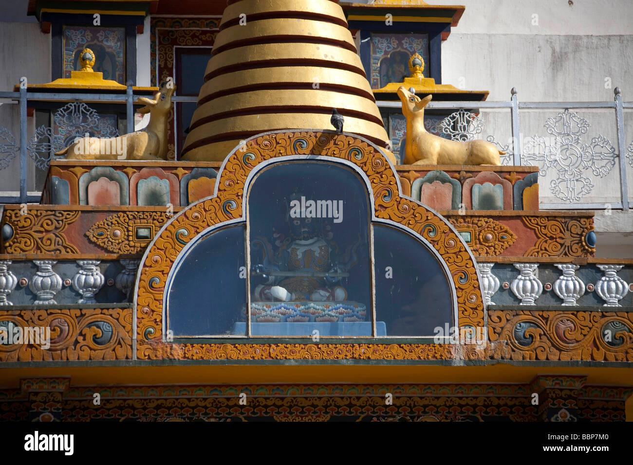 Memorial Chorten temple Tashi Chho Dzong du Bhoutan Thimphu journée ensoleillée,destination voyage 90916 Photo Stock